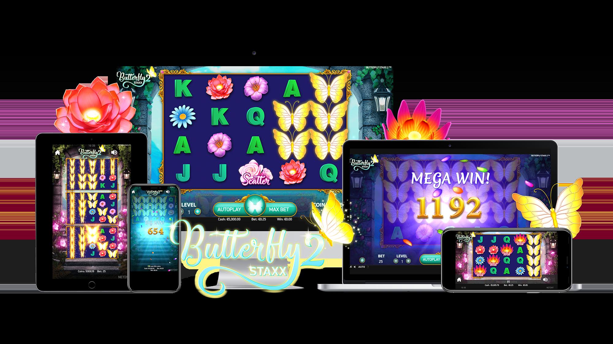 Butterfly Staxx 2 Gameplay Casino