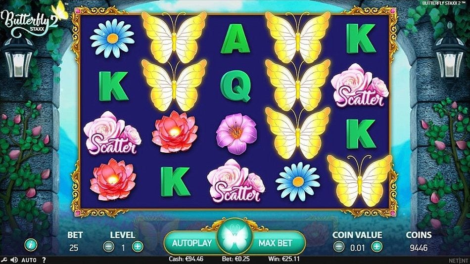 Butterfly Staxx 2 Slots Game