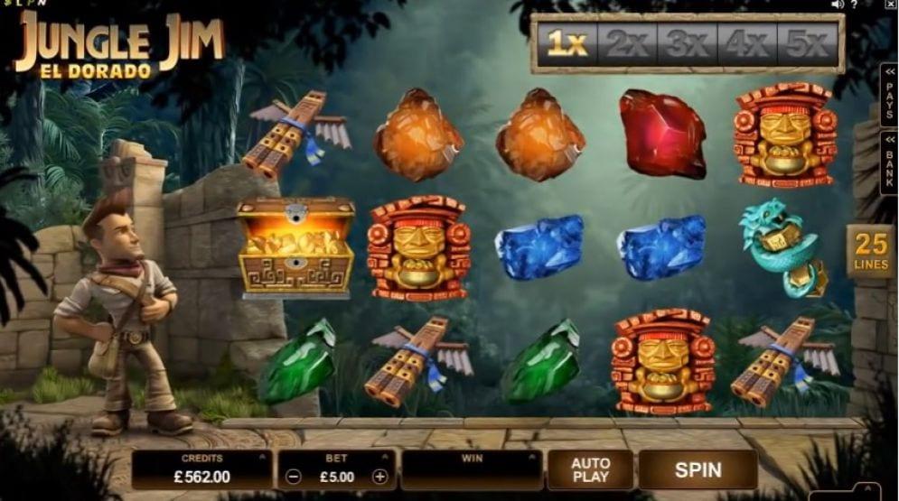Jungle Jim El Dorado online slots game gameplay