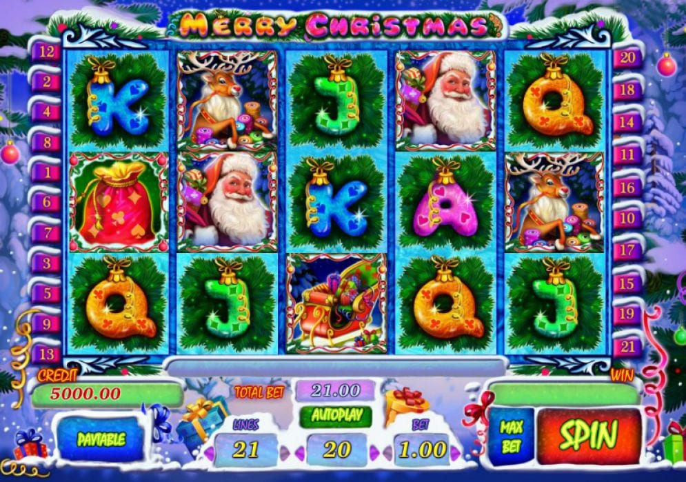Merry Christmas Online slots game gameplay