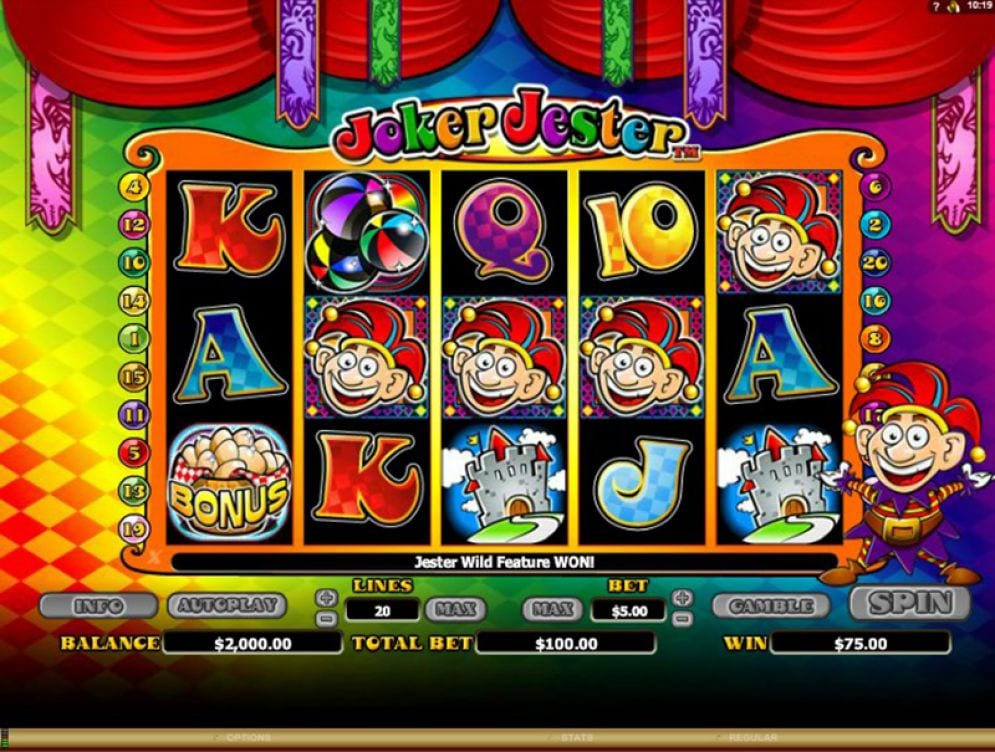Joker Jester slots gameplay