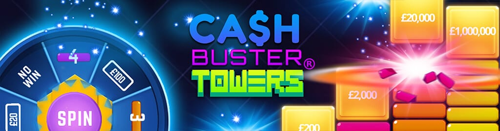 Cash Busters Towers slots game logo