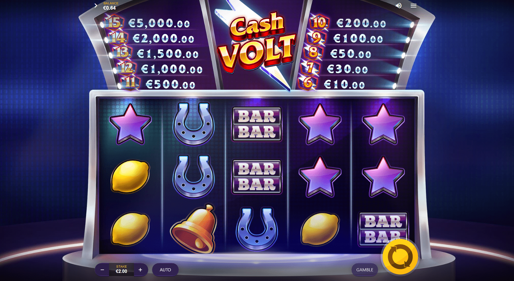 Cash Volt Slot Game