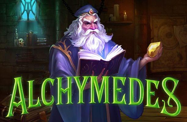 Alchymedes online slots game logo