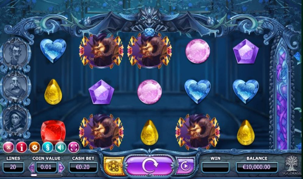Beauty and The Beast Online slots game gameplay