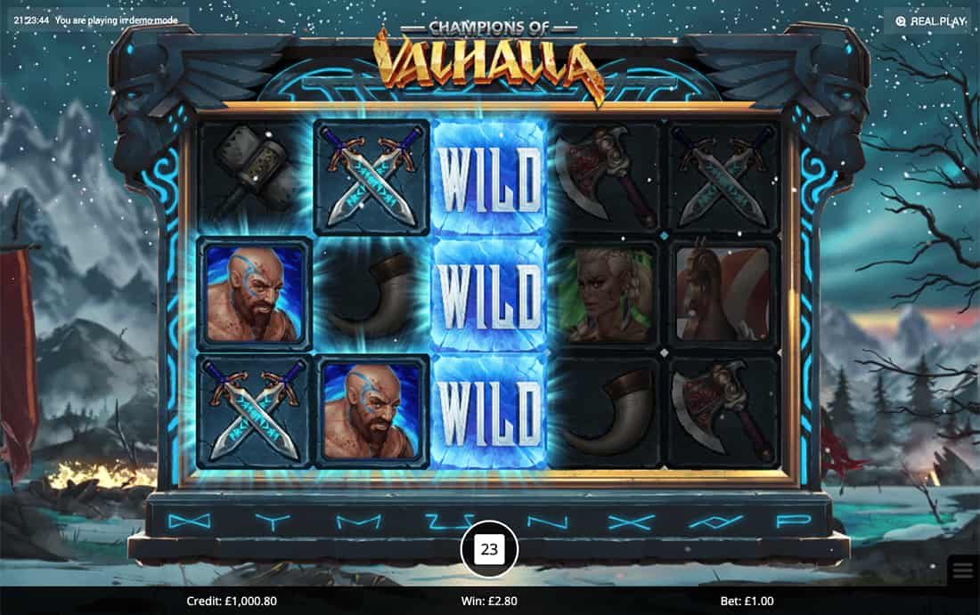 Champions of Valhalla Gameplay Casino