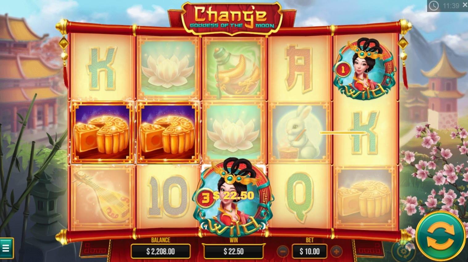 chang'e - goddess of the moon slots game gameplay