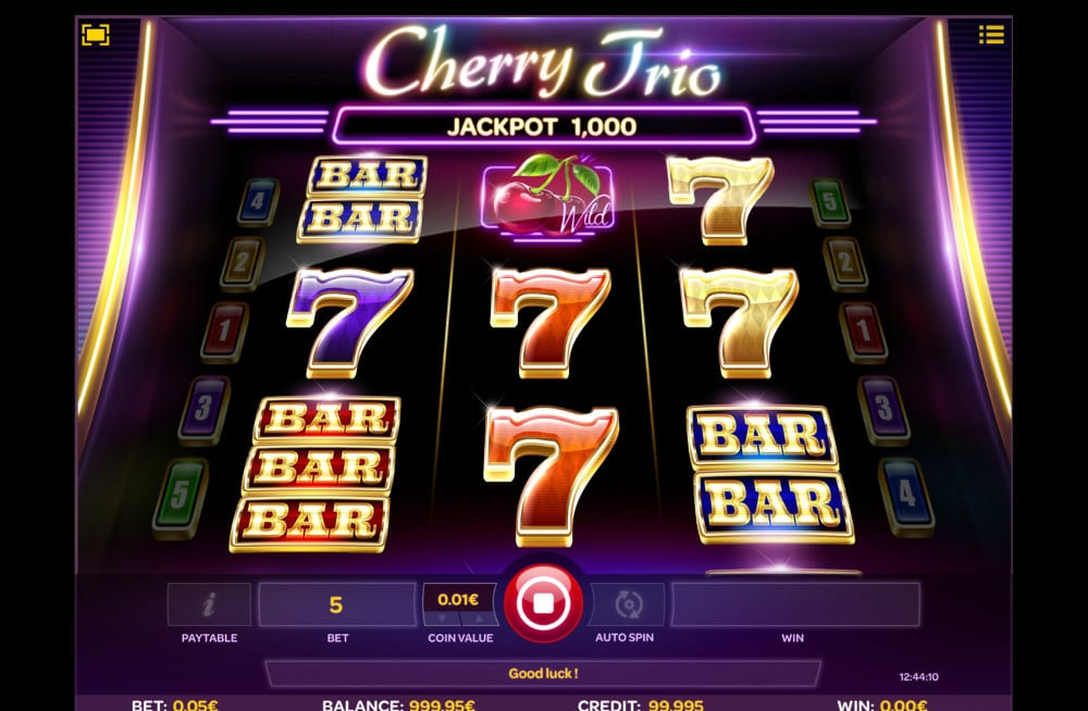 Cherry Trio slots gameplay