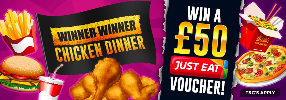 wizard slots offer - justeat
