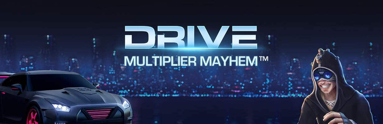 Drive Multiplier Mayhem online slots game logo