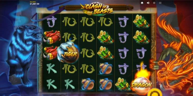 Clash of the Beasts Slots Reels