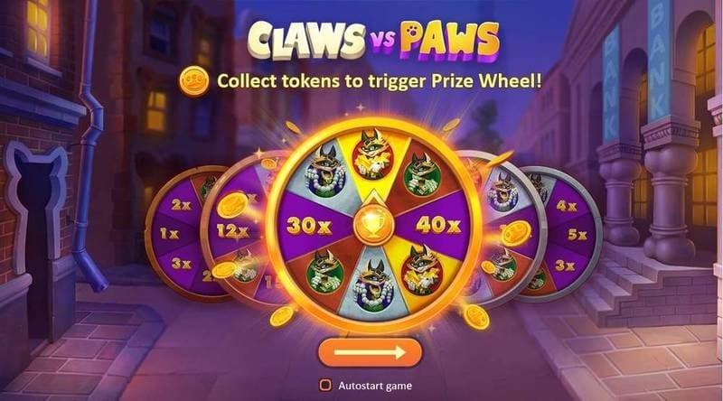claws vs paws Bonus Game