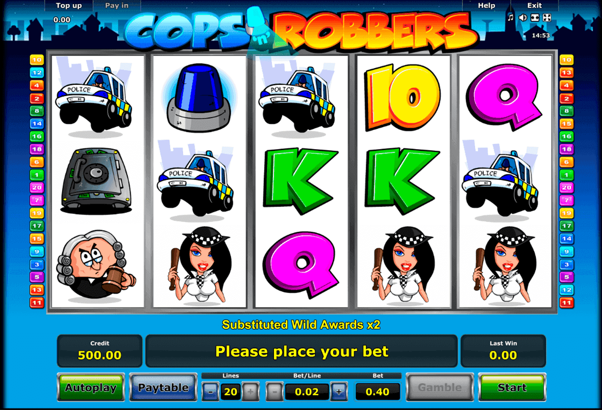 Cops and Robbers slots game