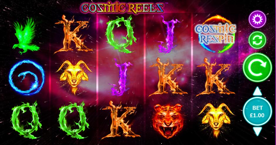 Cosmic Reels Gameplay