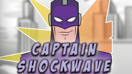 Captain Shockwave slots game logo