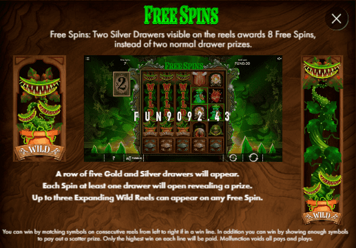The Curious Cabinet Free Spins