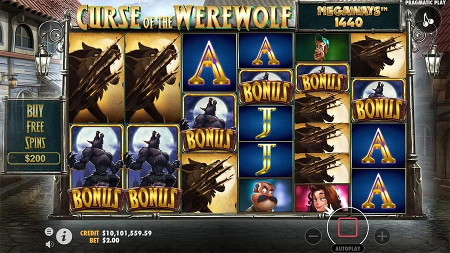 Curse of the Werewolf Megaways Free Slots