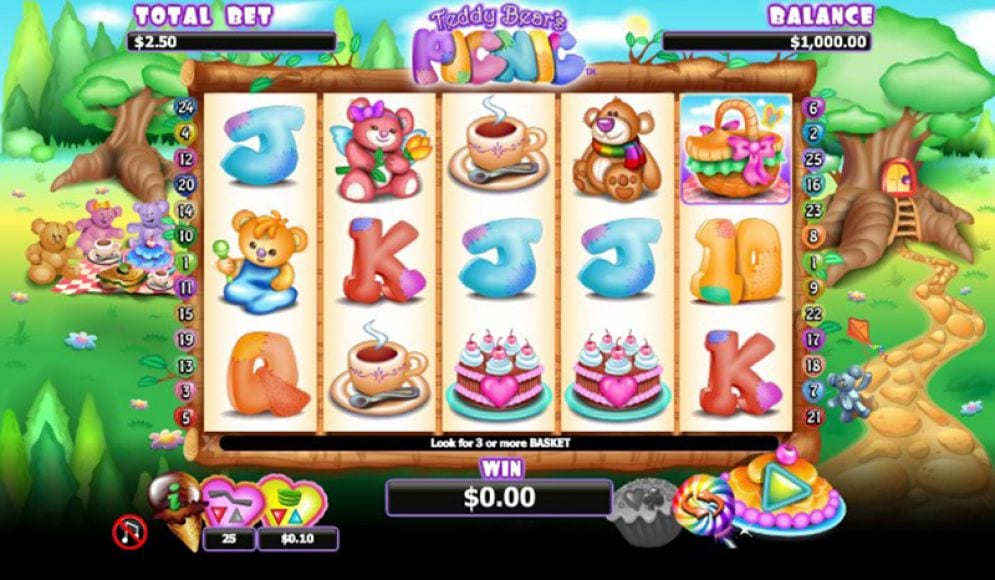 Teddy Bears' Picnic slots gameplay