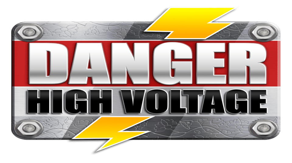 danger high voltage slots game logo