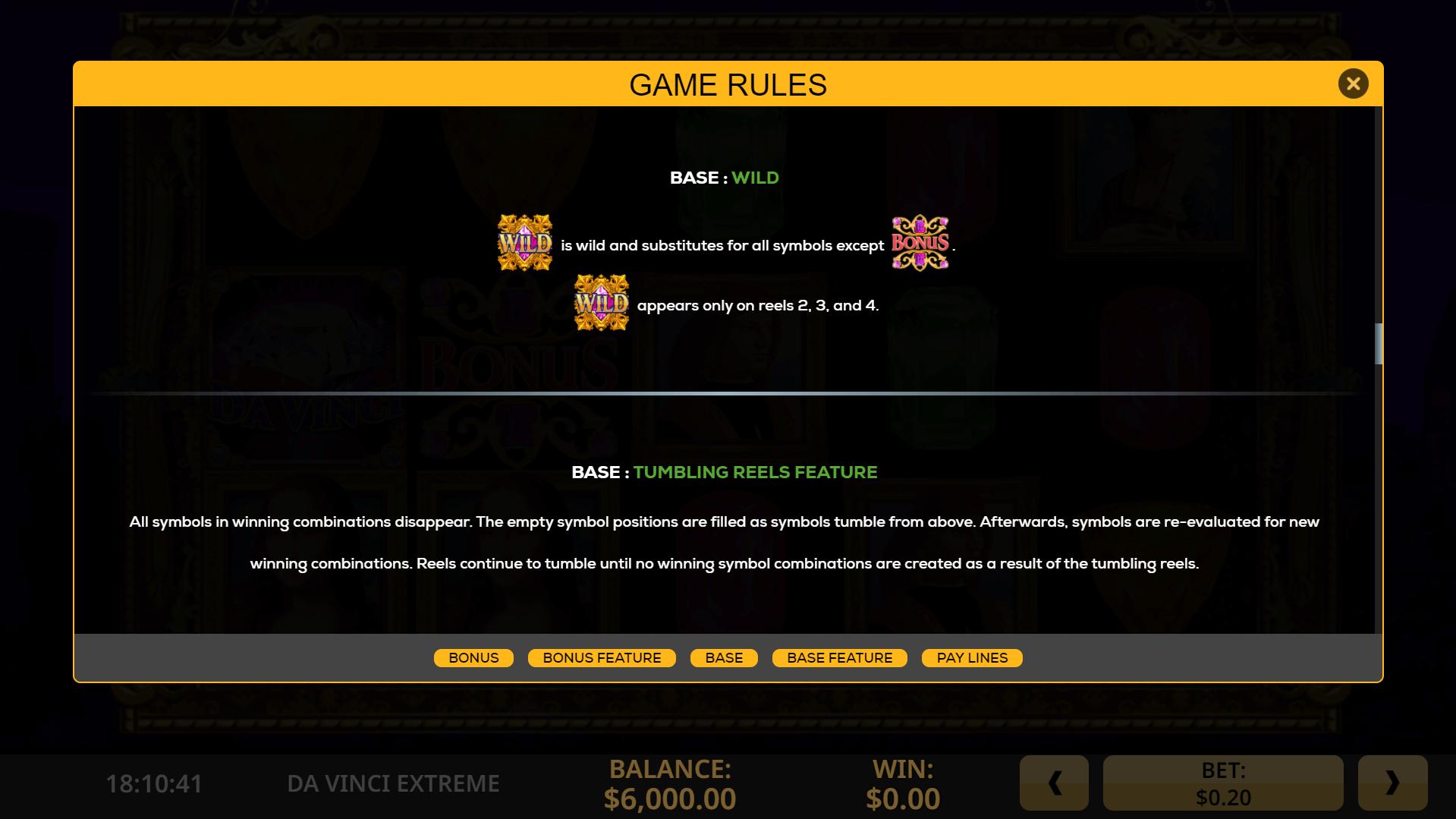 Da Vinci Extreme Slots Info