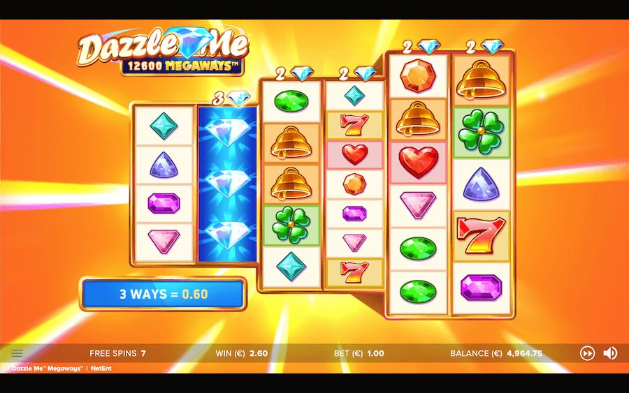 Dazzle Me Megaways Slots Reels