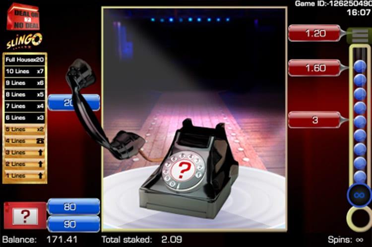 Slingo Deal or No Deal Slot Game