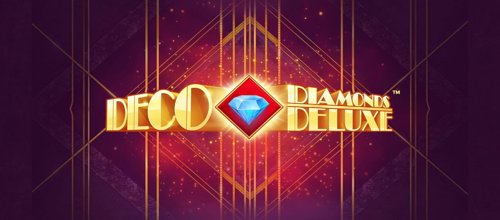 Deco Diamonds Deluxe Slot Logo Wizard Slots