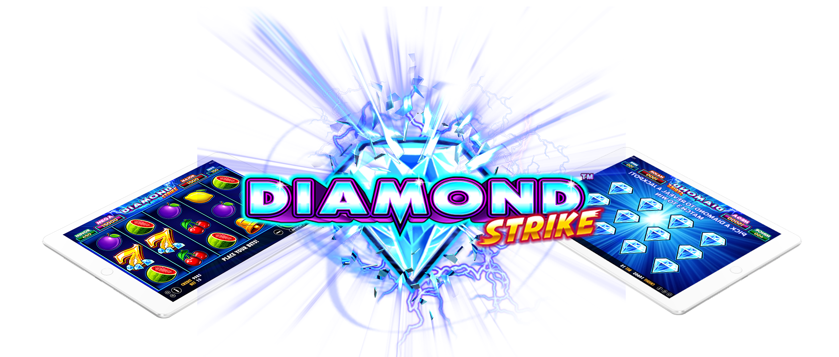 diamond strike slots game logo