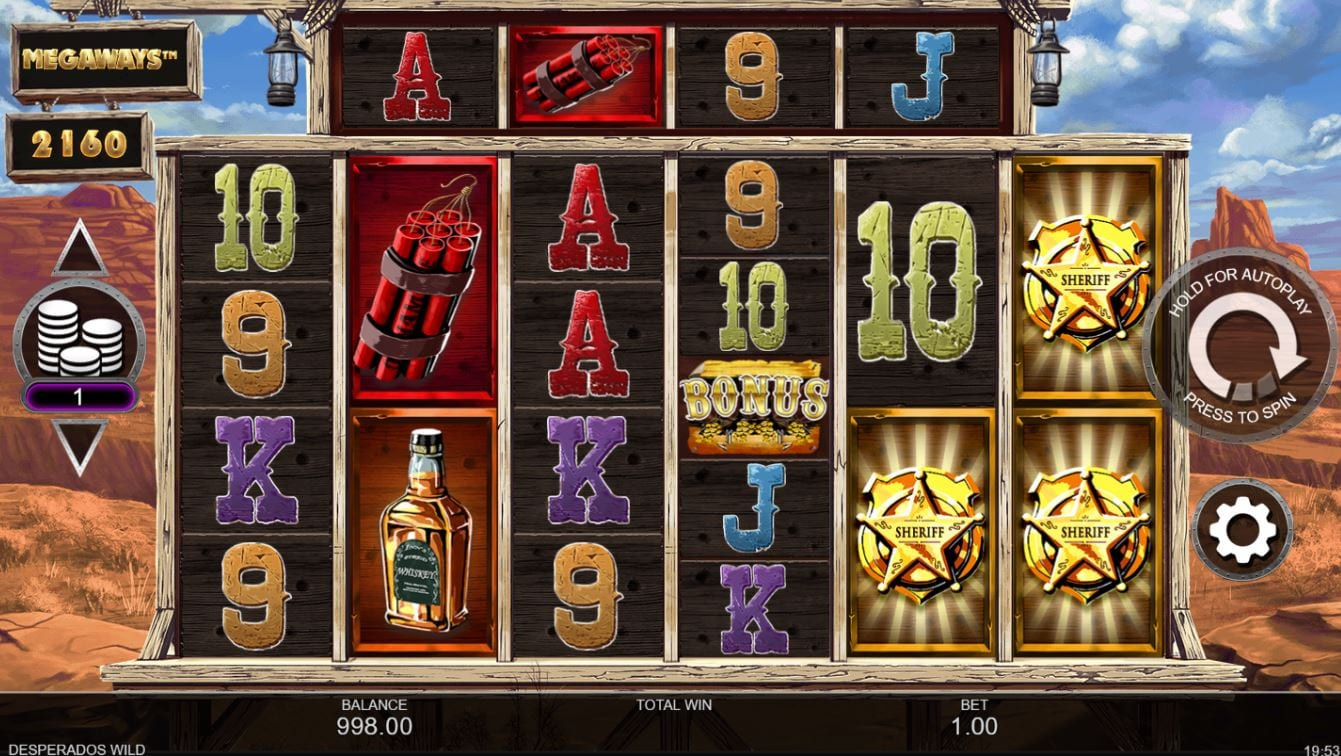 Desperados Wild Megaways Slots UK