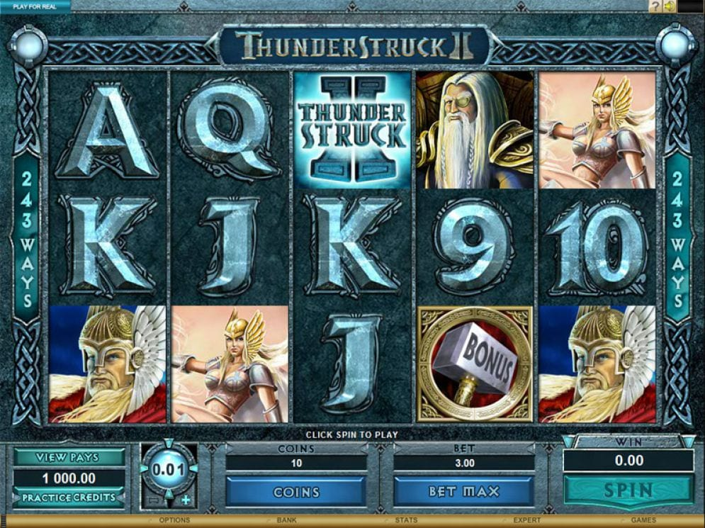 Thunderstruck II Slots gameplay