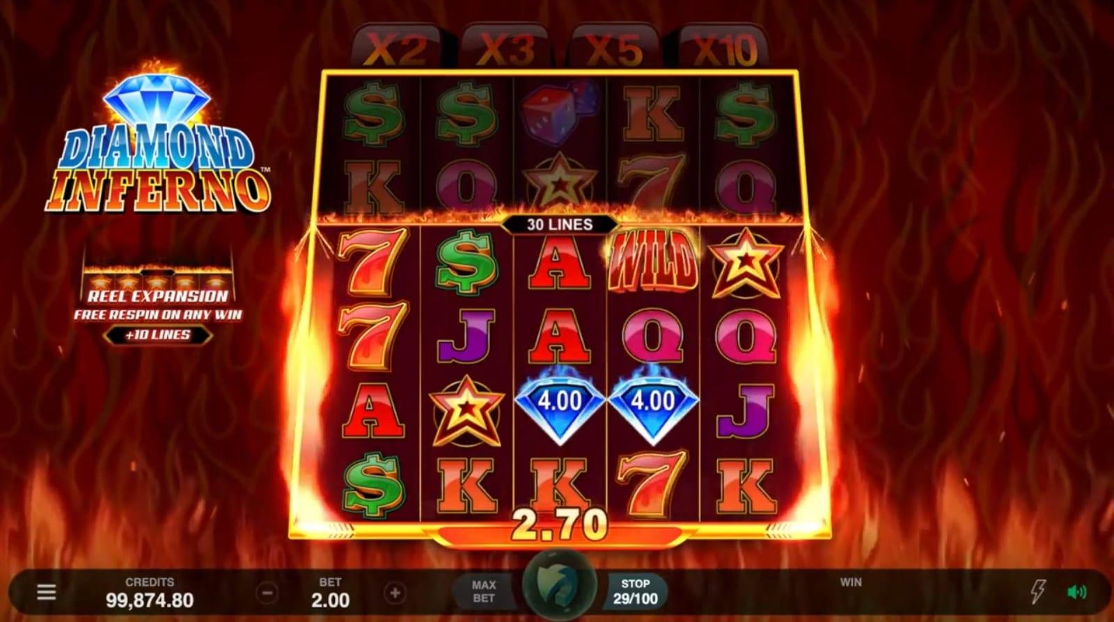 Diamond Inferno Slot Game