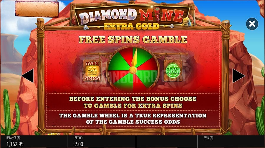 Diamond Mine: Extra Gold Fee Spins Gamble