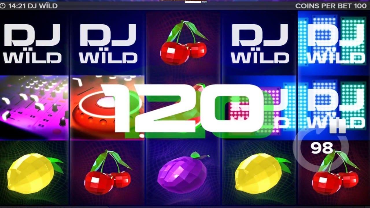 DJ Wild Slot intro screen