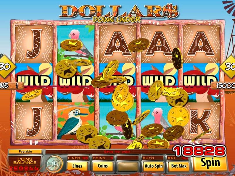 Dollar Down Under Wild Slots