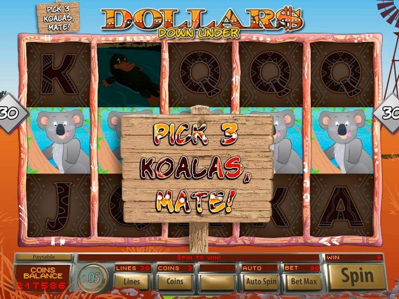 Dollar Down Under Slot Free Spins