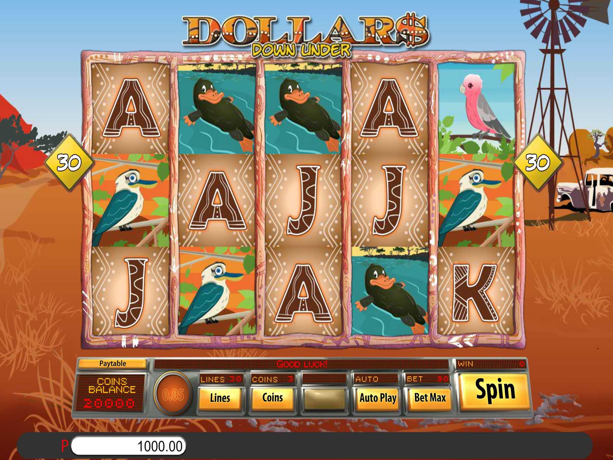 Dollar Down Under Slot Game