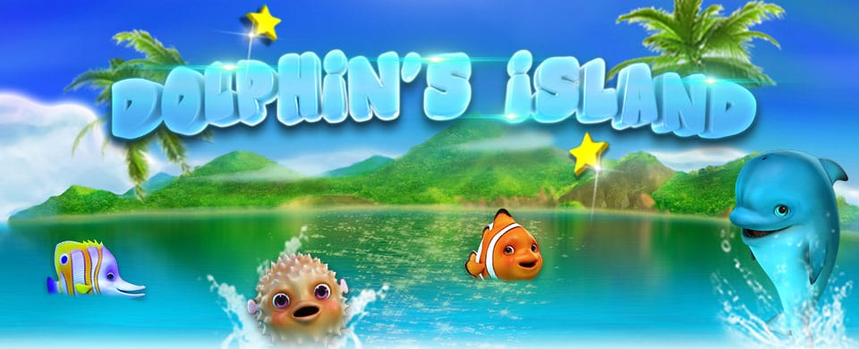 Dolphins Island online slots game logo