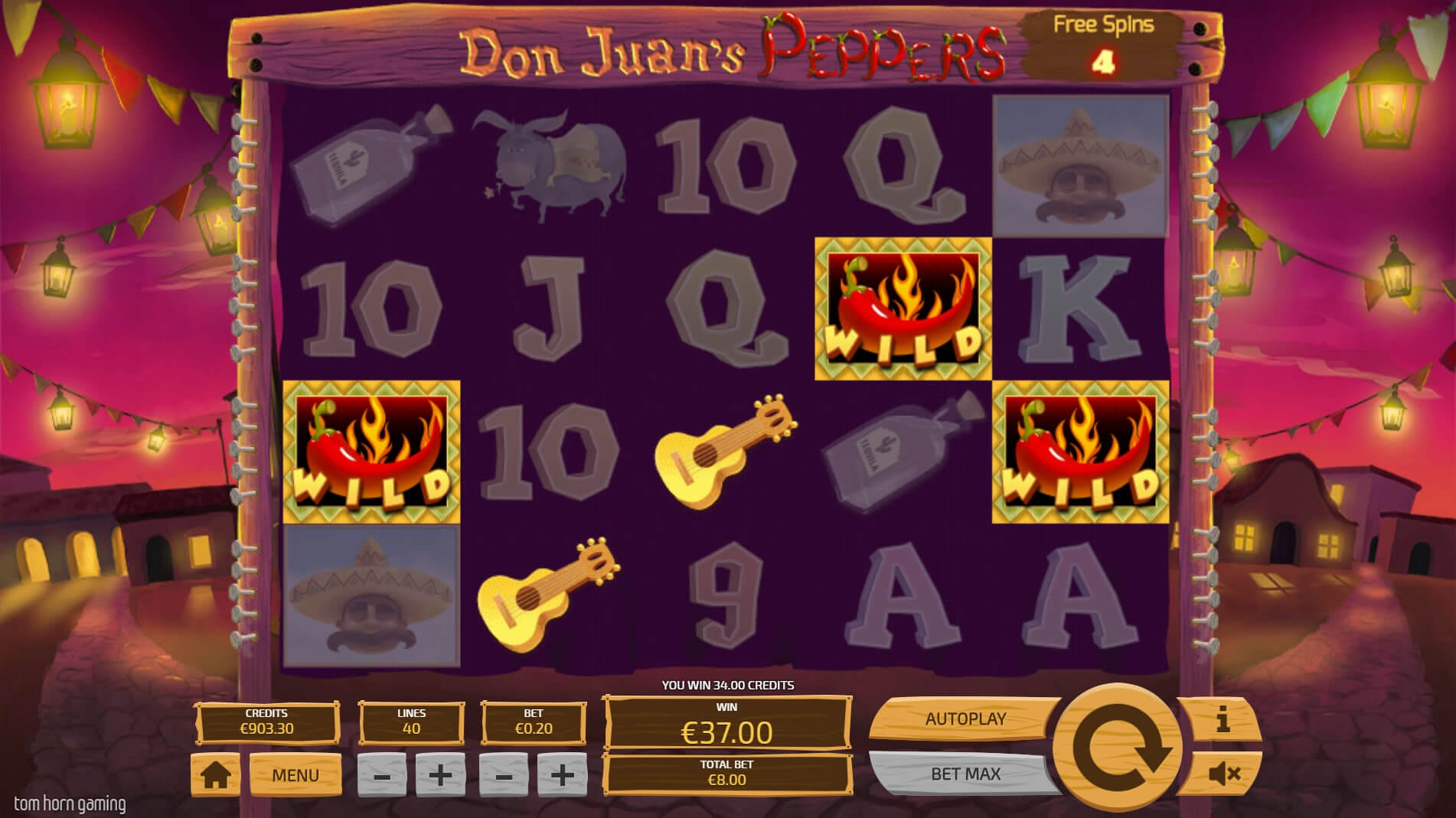 don juans peppers free spins