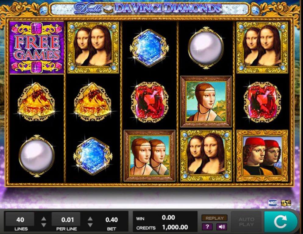 Double Da Vinci Diamonds Slot Machine