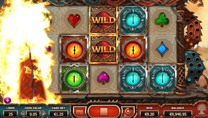 Double Dragons online slots game screenshot