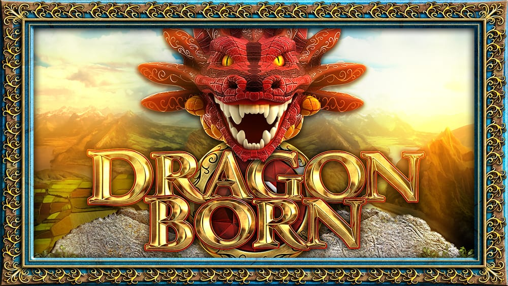 dragon born slots game logo