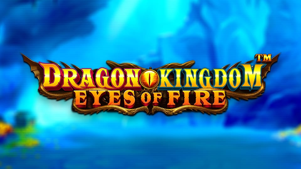 Dragon Kingdom Eyes of Fire Slot Logo Wizard Slots