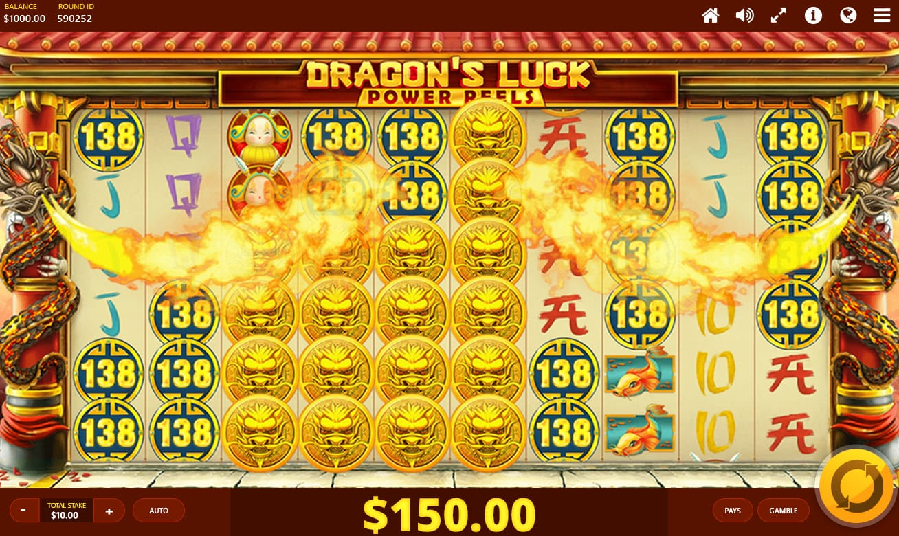 Dragon's Luck Power Reels Slot Game