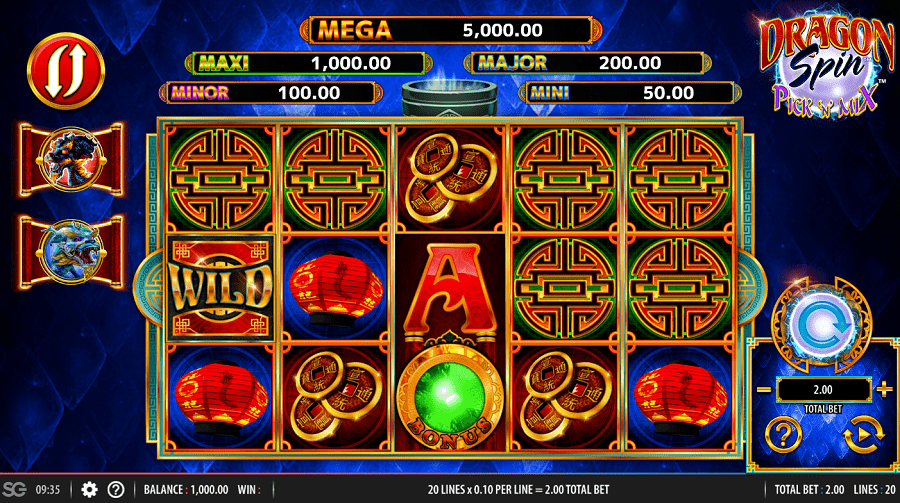 Dragon Spin Pick N Mix Slots Reels