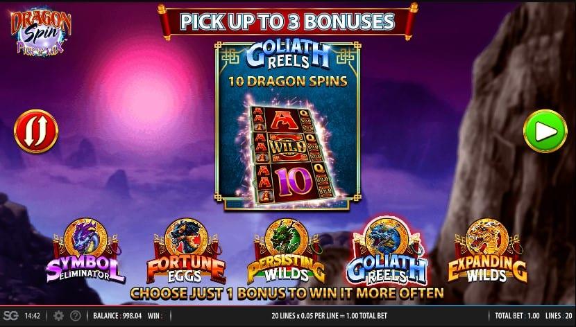 Dragon Spin Pick N Mix Slot Bonus Features
