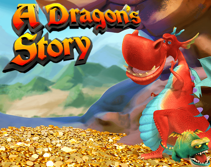 A Dragon's Story slots game logo