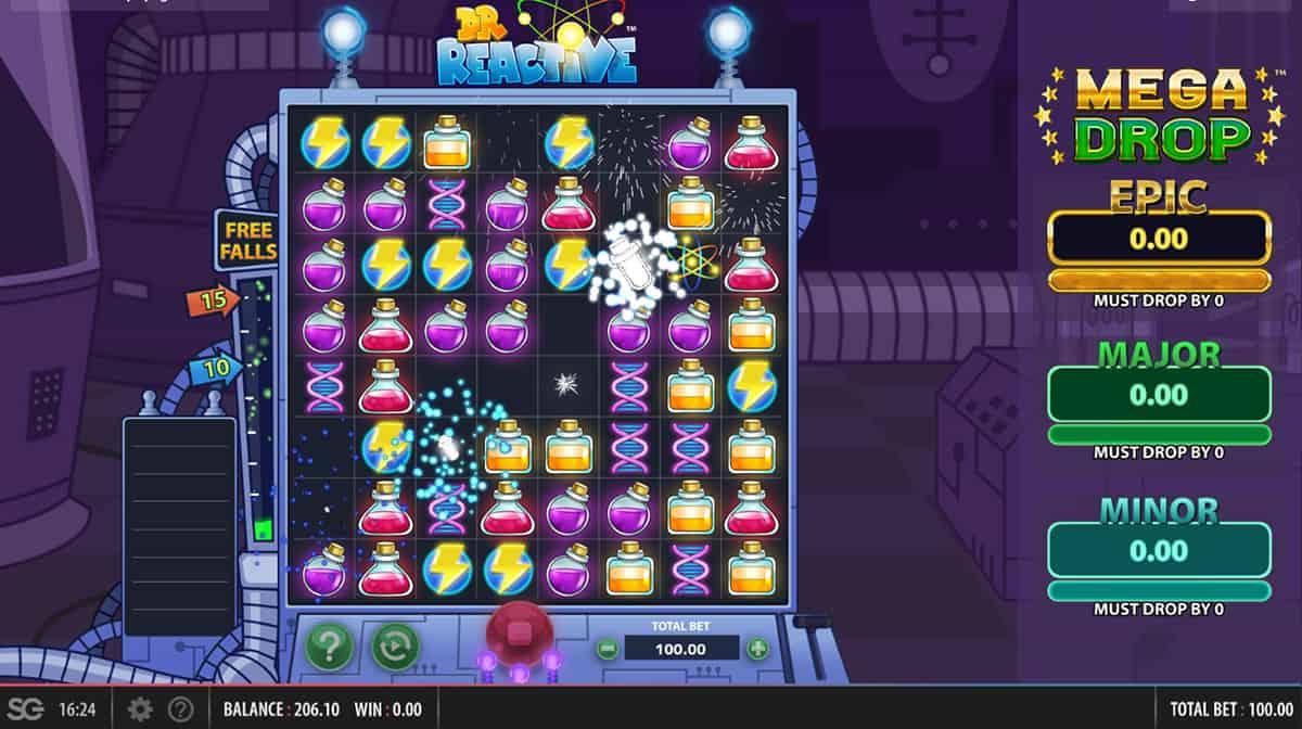 Dr Reactive Mega Drop Slots Game