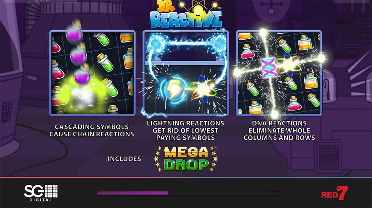 Dr Reactive Mega Drop Slot Bonus Features