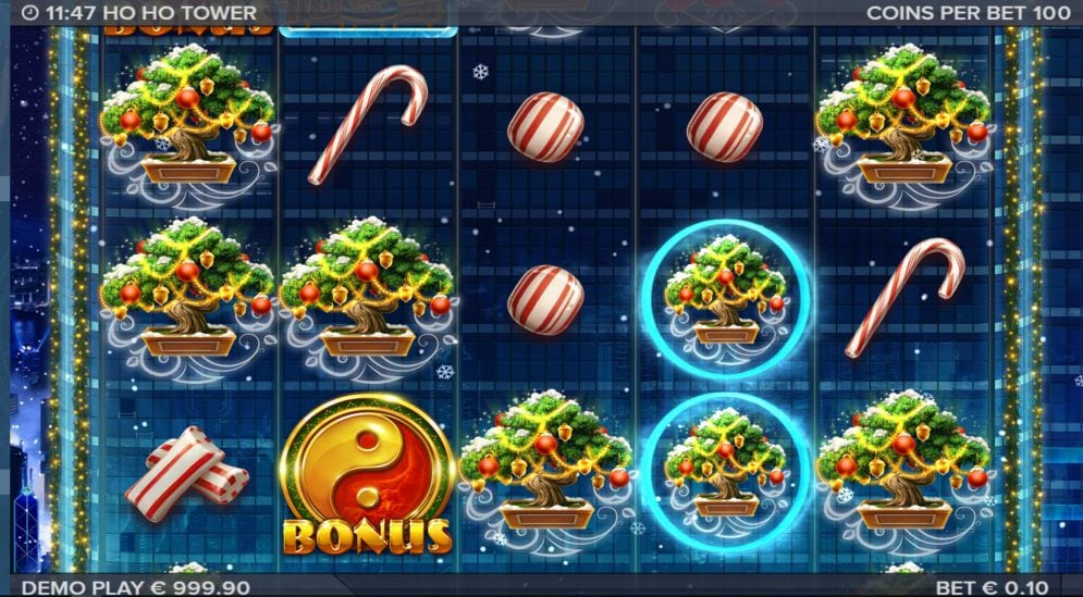 Ho Ho Tower online slots game gameplay
