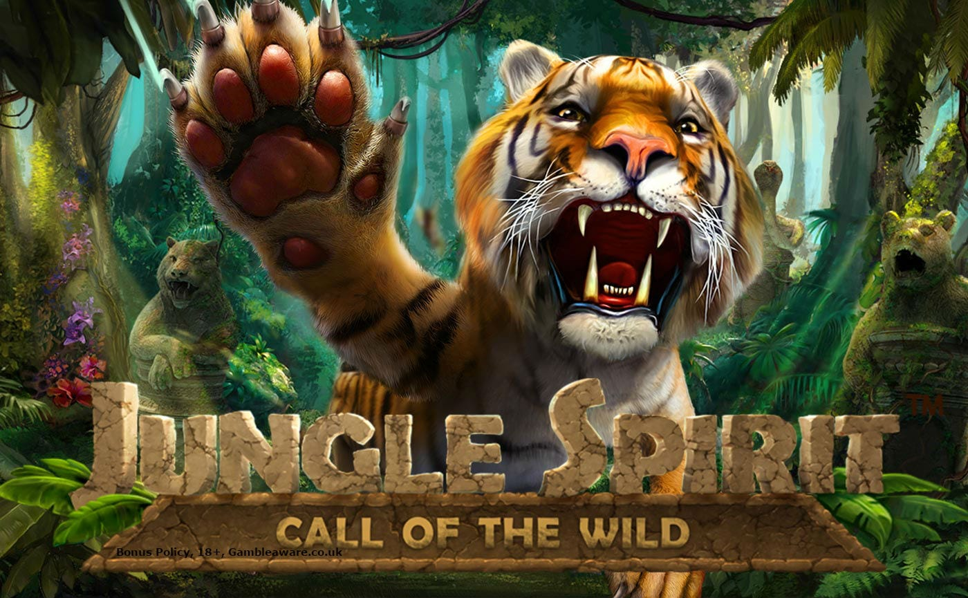Jungle Spirit Call of the Wild online slots game logo